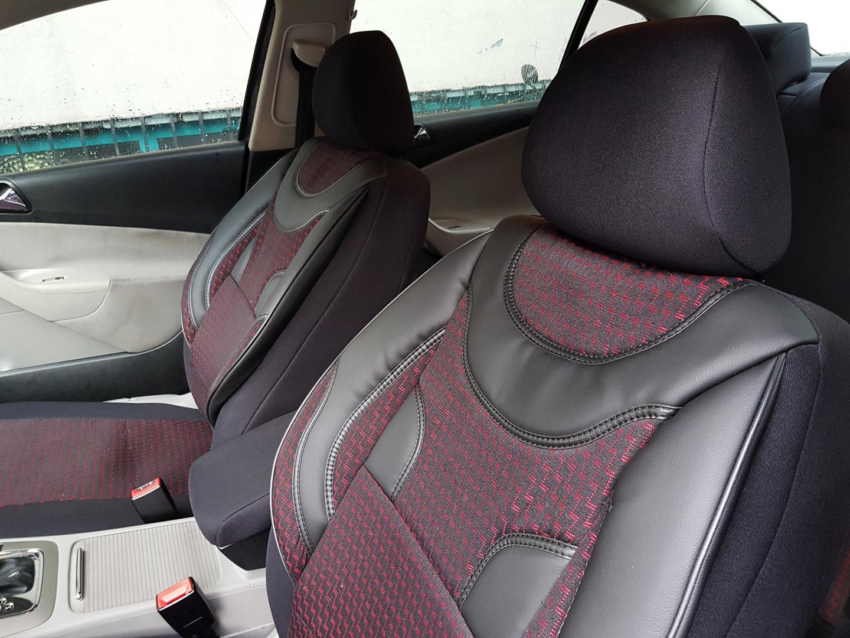 Sitzbezüge Sitzbezug Schonbezüge für Honda Civic Schwarz Modern MP-1 Komplettset