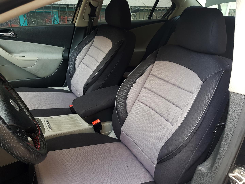 Sitzbezüge Sitzbezug Schonbezüge für Hyundai Santa Fe Schwarz Modern MG-1 Set