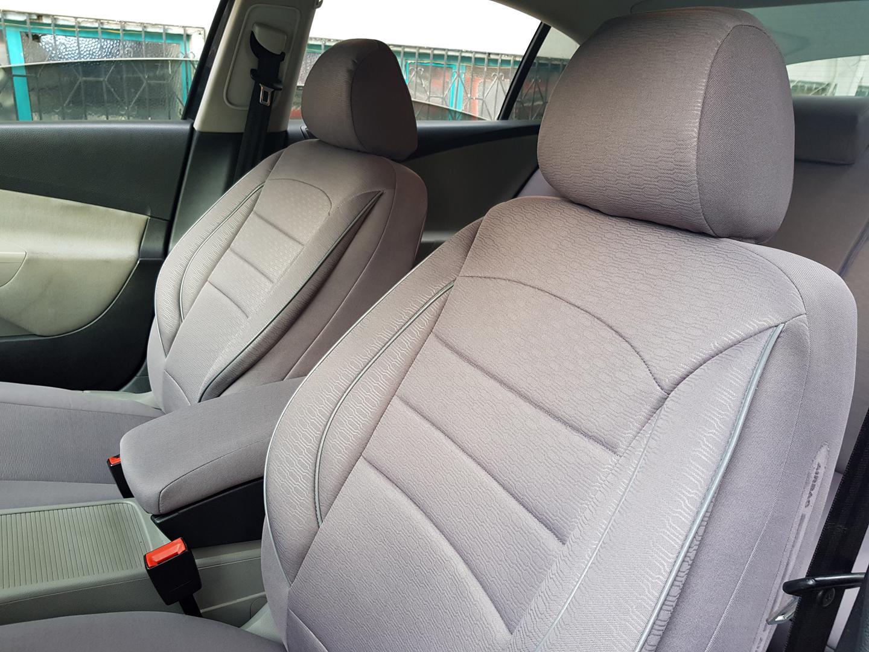 Sitzbezüge Autositzbezüge für Jeep Cherokee schwarz-rot V358810 Vordersitze