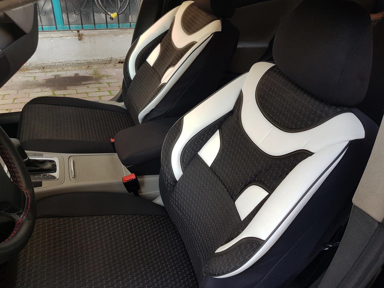 Schwarze Sitzbezüge für KIA CARENS Autositzbezug VORNE